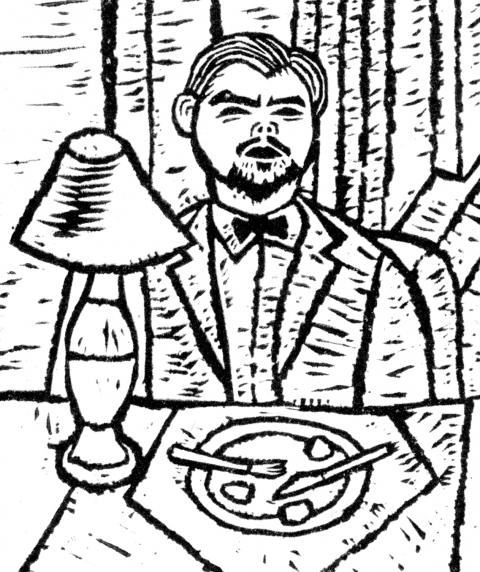 Leonardo DiCaprio Eating.