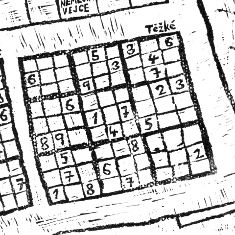 Extra Hard Sudoku in Supplement of Saturday Newspaper.